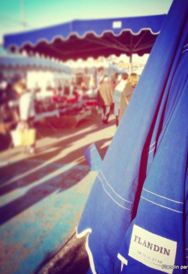 parasol forain bleu marine