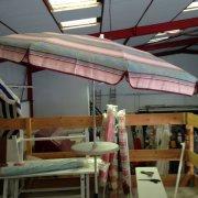 parasol retro rose gris