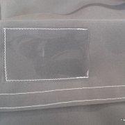housse acrylique avec pochette marquage