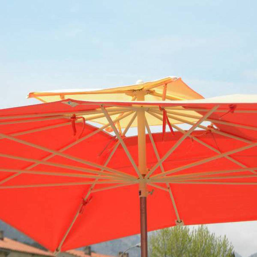 parasol terrasse monture creme