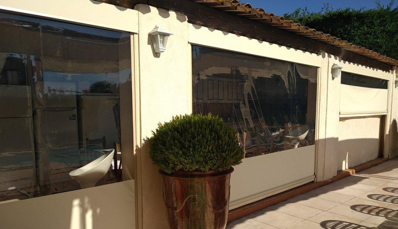 ziptrak cristal PVC Flandin pool house