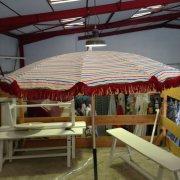 parasol frange bordeaux