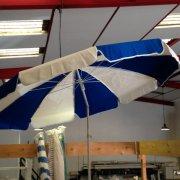 parasol tranches bleu blanc