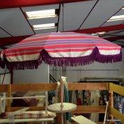 parasol rayures franges violettes